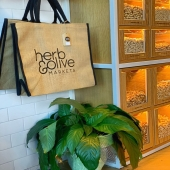 H&O signature reusable tote now available.