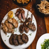 Who's ever woken up and knew exactly what they wanted for dinner that night?? 😆   There has gotta be more of us out there! ☺️ 🙈 🤤 🥘 🥩    All this snow calls for something hearty for dinner like our Grigliata Mista to-go!   Lamb Chops 🐑  Bifteki 🐄  Greek Leek Sausage 🐖  Chicken Thighs 🐓   And fries in the side!! 🍟   Call us to place your order!!! ___________________________  #herbandolive   📍172 Plandome Rd ☎️ 516 439 5421 ⏰ Wed - Sun 8am-8pm   Thurs - Sat 8am - 10pm 📱 www.herbandolive.com