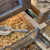 Fresh almonds and a variety of nuts available daily in our Marketa.